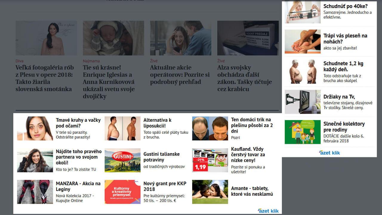 14 reklám cez Azet Klik